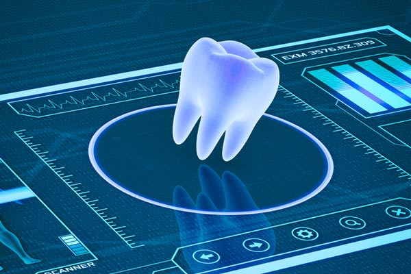 Futuristic image of a tooth at Turella Oral Surgery in Port Angeles, WA